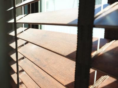 faux wood shutters
